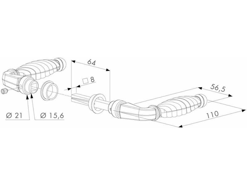 Locinox 3006FA | Sierkrukpaar in zamac