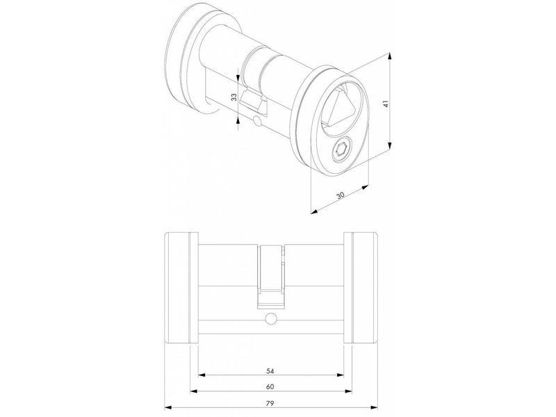 Locinox 3012-POC-T14 | Driehoekscilindersetje