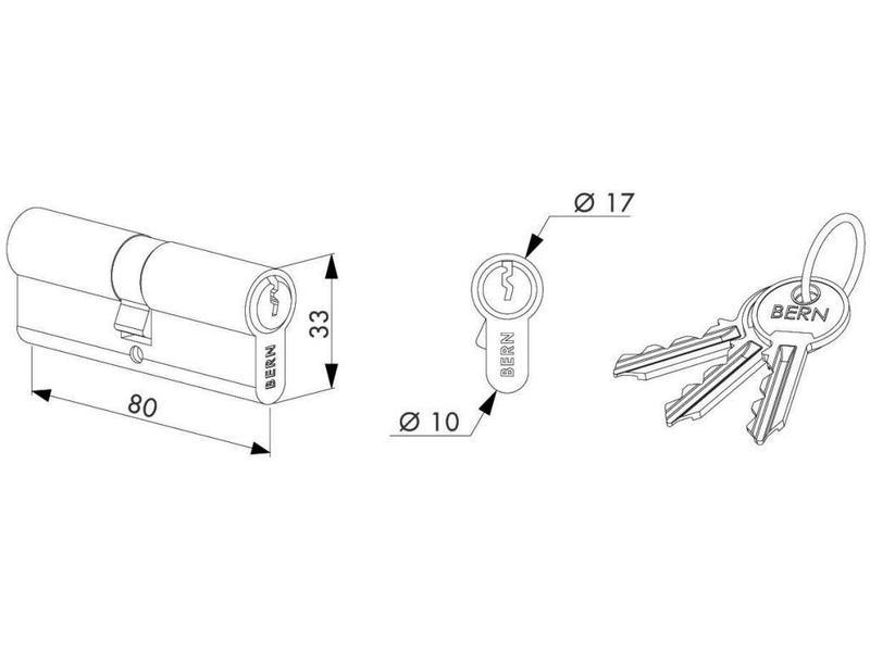 Locinox Cilinder 80 mm | 3012-80-STD