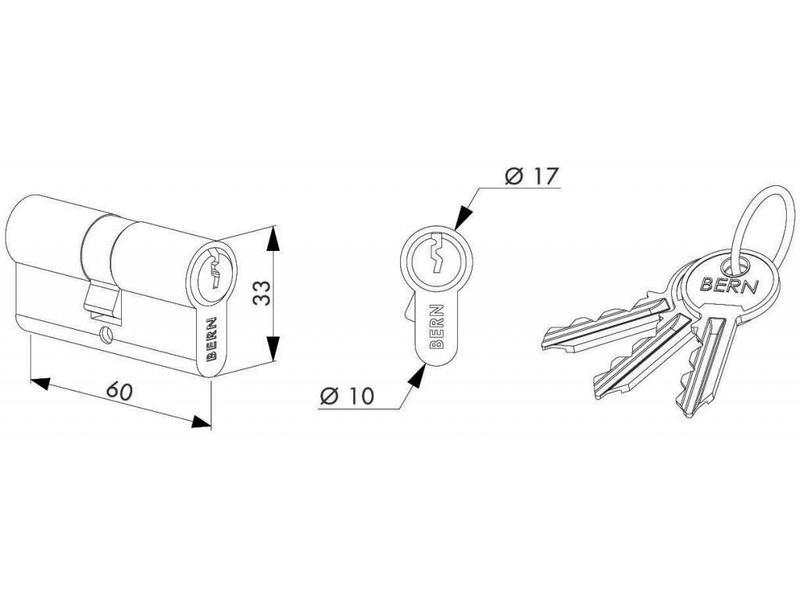 Locinox Cilinder 60 mm  3012-60-STD