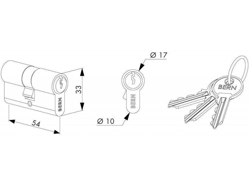 Locinox 3012-54-STD | 54 mm cilinder