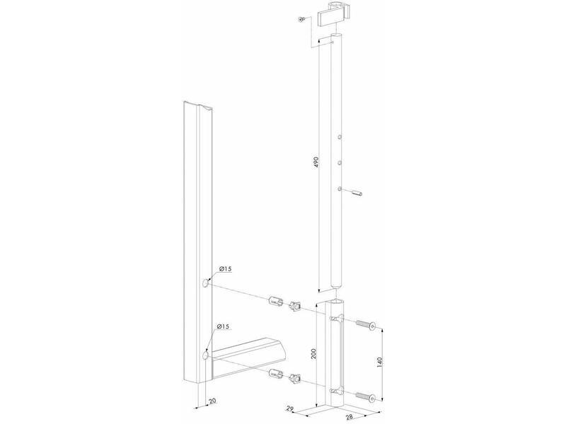Locinox VSF | Standaard opbouwgrondgrendel