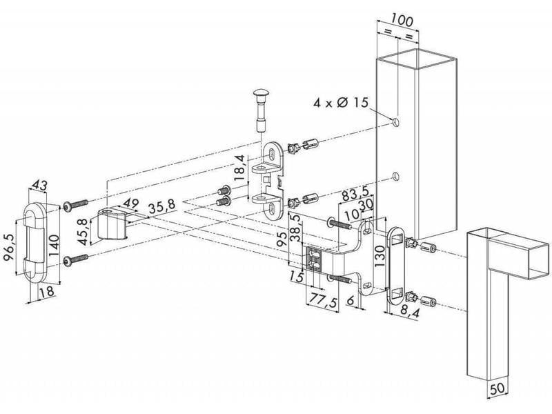 Locinox 3DM | 3-D regelbaar