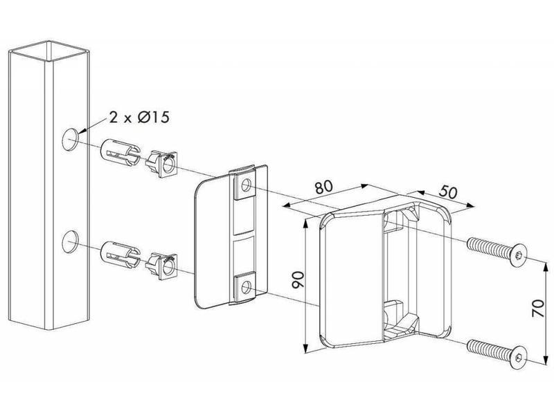 Locinox STK QF | Zwembadslotvanger voor ☐ 40 mm TWIST40