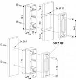 Locinox O-SET | Aluminium adapter bakje voor platte profielen