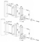 Locinox SHRL QF | Industriële veiligheidsslotvanger - rond profiel