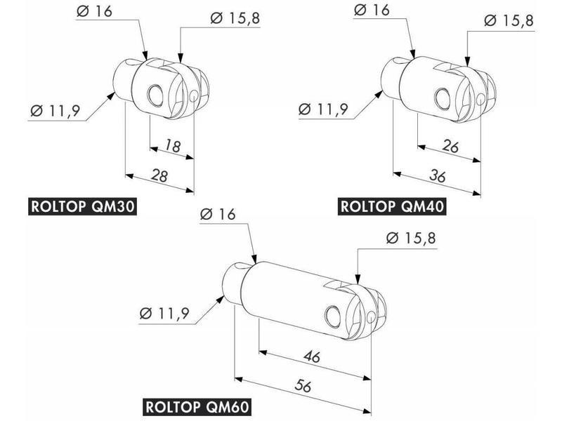 Locinox ROLLTOP | Regelbare roltop