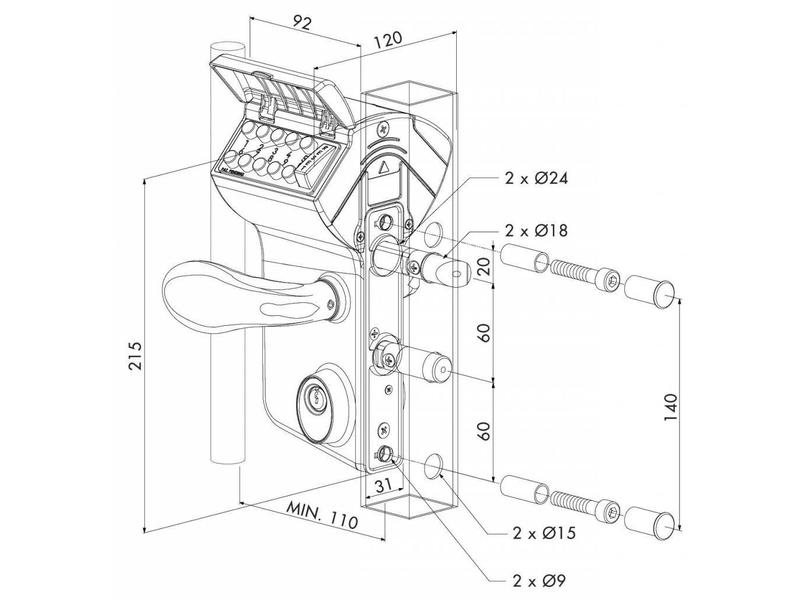 Locinox LMKQ V2 | Mechanisch codeslot VINCI - rond profiel