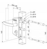 Locinox LAKZ P1 | Tuinpoortslot Locinox - rond profiel