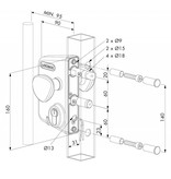 Locinox Elektrisch poortslot - rond profiel  | LEKQ U4