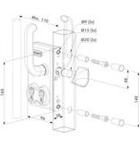 Locinox LGKZ D1 | Dubbel cilinderslot - kokerprofiel