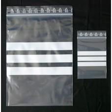 Druckverschlußbeutel, 160 x 220 mm, 90 my (EXTRA STARK), transparent, unbedruckt, mit drei weißen Schreibfeldern (1 VE = 1.000 St.)