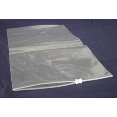 LDPE-Gleitverschlußbeutel, Format: 200 x 300 mm (B x H), 60 my Stärke, transparent, unbedruckt, mit weißem Kunststoffschieber