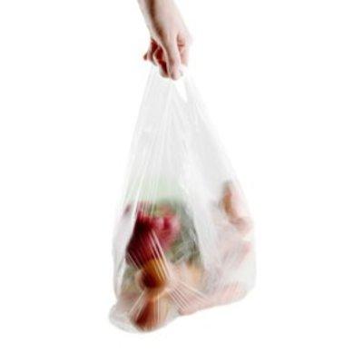 HDPE-Hemdchentragetaschen, Format: 250 + 120 x 450 mm (B + F x H), weiß eingefärbt, unbedruckt, 2.000 St./Karton