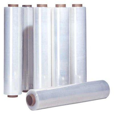 LDPE-Stretchfolie (für Handabroller), 500 mm Breite, 17 my Stärke, 50 mm Kerndurchmesser, 2,4 kg/Rolle, transparent, unbedruckt