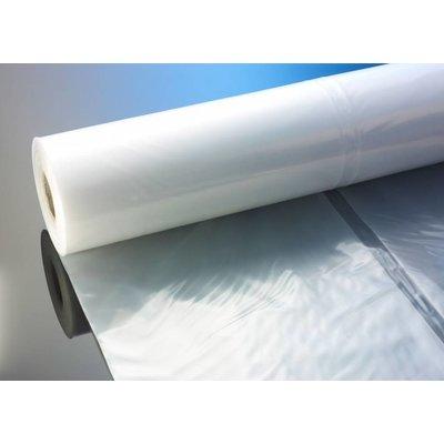 Flachfolie, 2.000 mm Breite (gefaltet auf 1.000 mm), 100 my Stärke, 100 lfm. je Rolle (= 1 VE), transparent, unbedruckt
