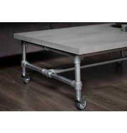 Tafelblad 60 cm breed tot 150 cm lang - Boncreat Beton Ciré - 66 mm