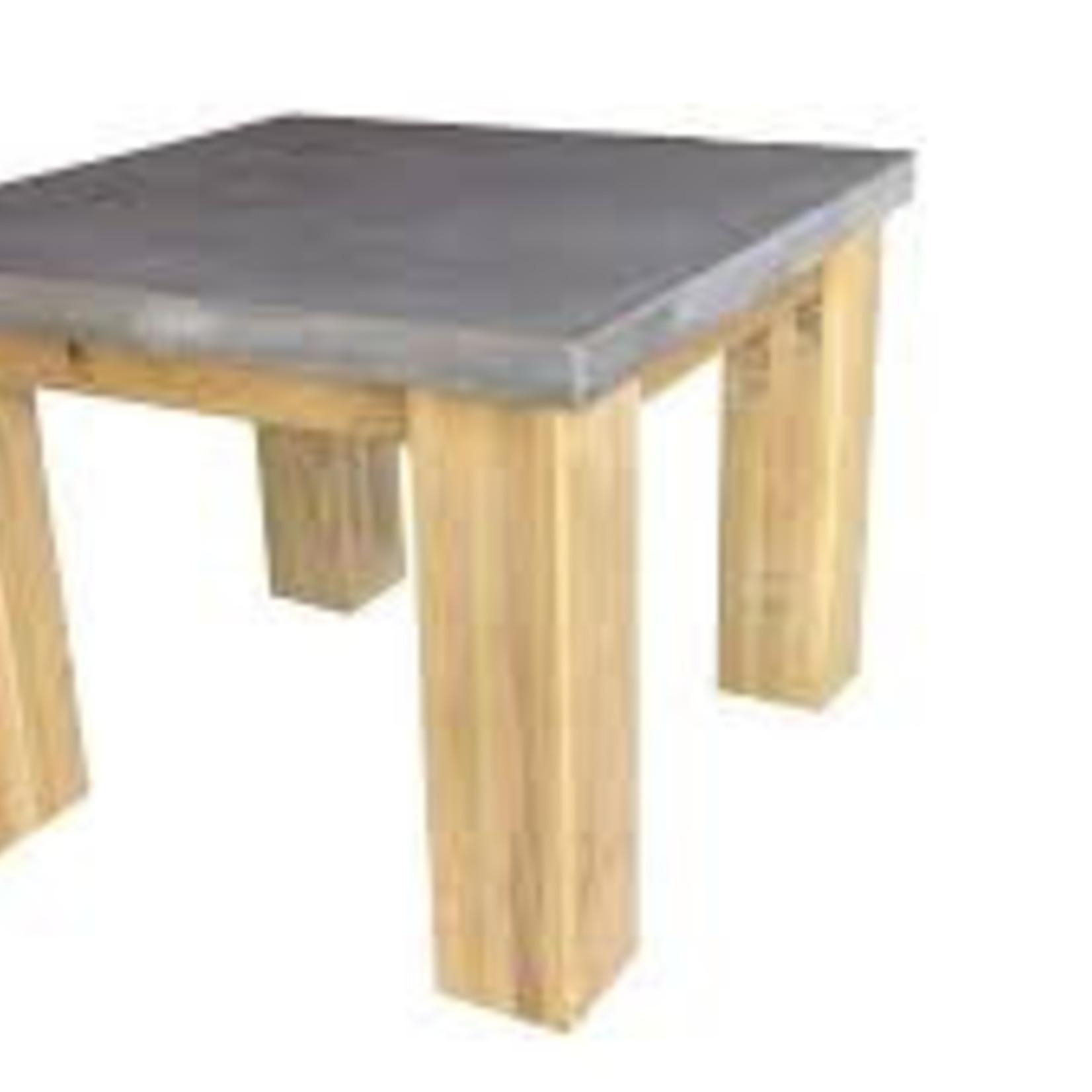 Tafelblad 80 cm breed tot 150 cm lang - Boncreat Beton Ciré - 66 mm