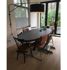 Tafelblad Ovaal (max. 120x300 cm) - Boncreat Beton Ciré - 44 mm