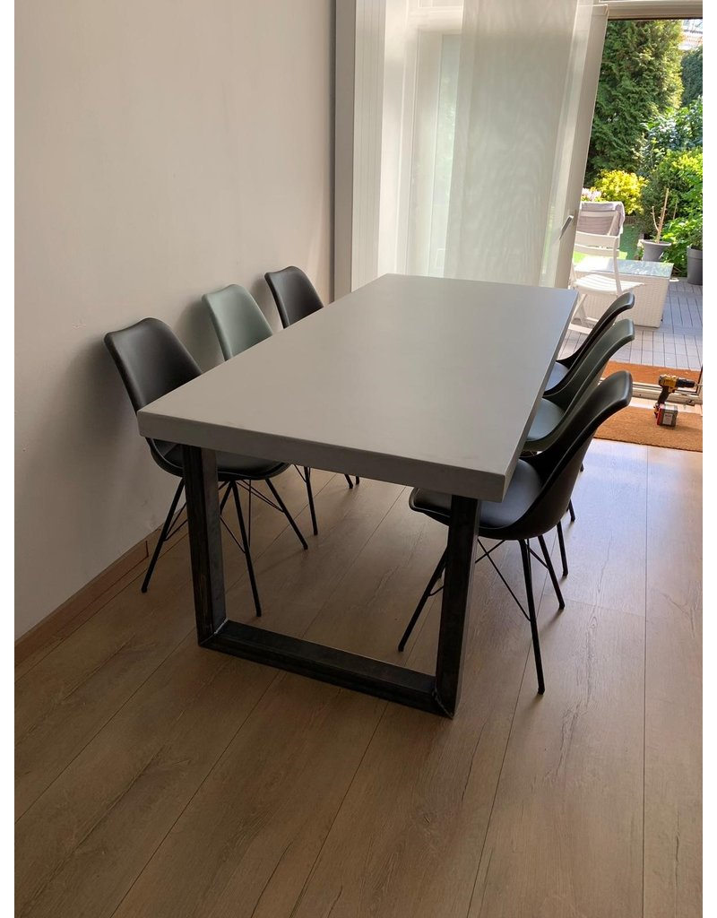 Tafelblad 90x100/300 - Betonlook / Beton Ciré - 66 mm