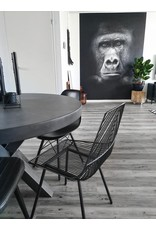 Salon/Eetkamer Tafelblad Rond (max. 150x150 cm) - Boncreat Beton Ciré - 44 mm