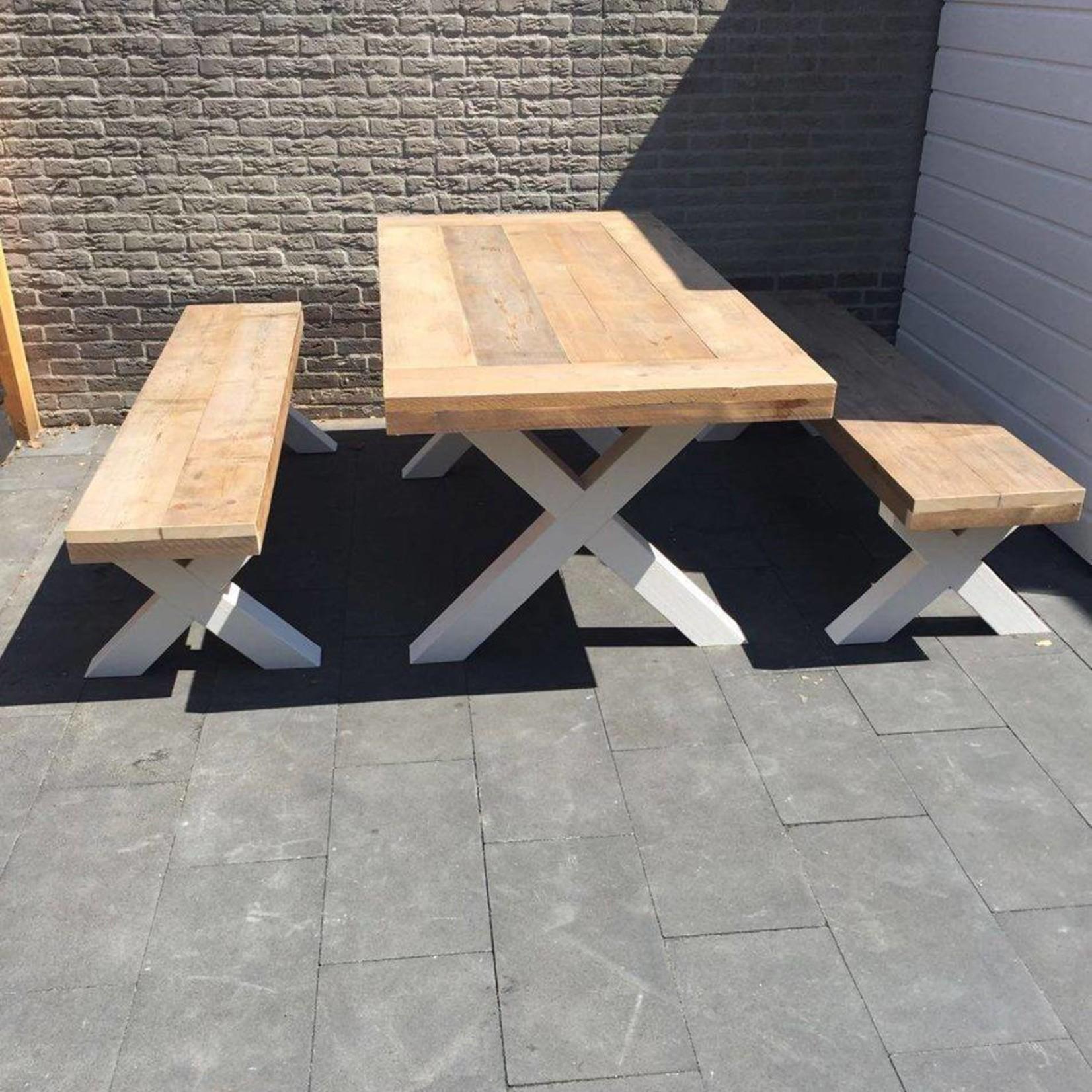 Zitting bankje 50x60/300 - Steigerhout