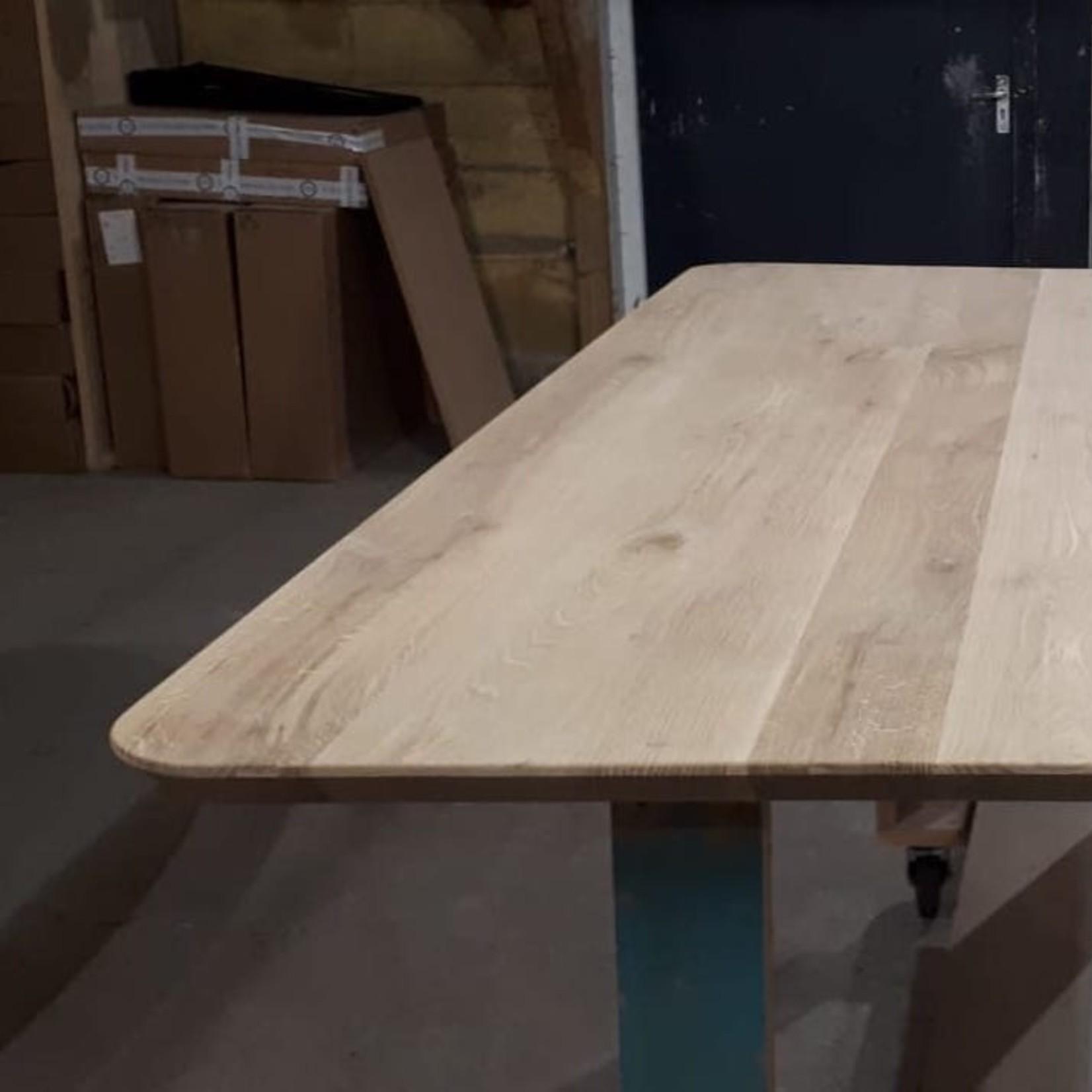 Tafelblad 100 cm breed tot 300 cm lang - ± 40mm - Eiken Massief