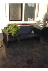 Tuinbank met 10 cm leuningen, zitting 60 cm diep