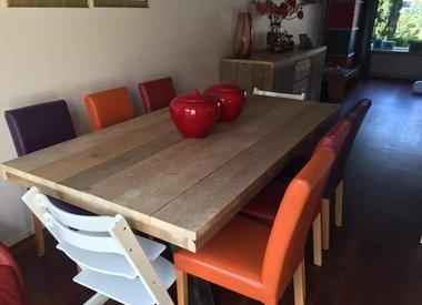 Steigerhouten tafelbladen