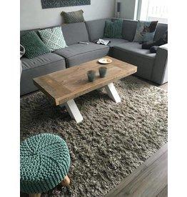 Tafelblad 80 cm breed tot 150 cm lang - Steigerhout