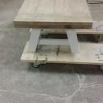 Tafel met houten A poten