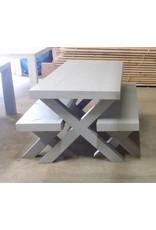 Bankje 60x45x60/300 zonder leuning, Houten X poten