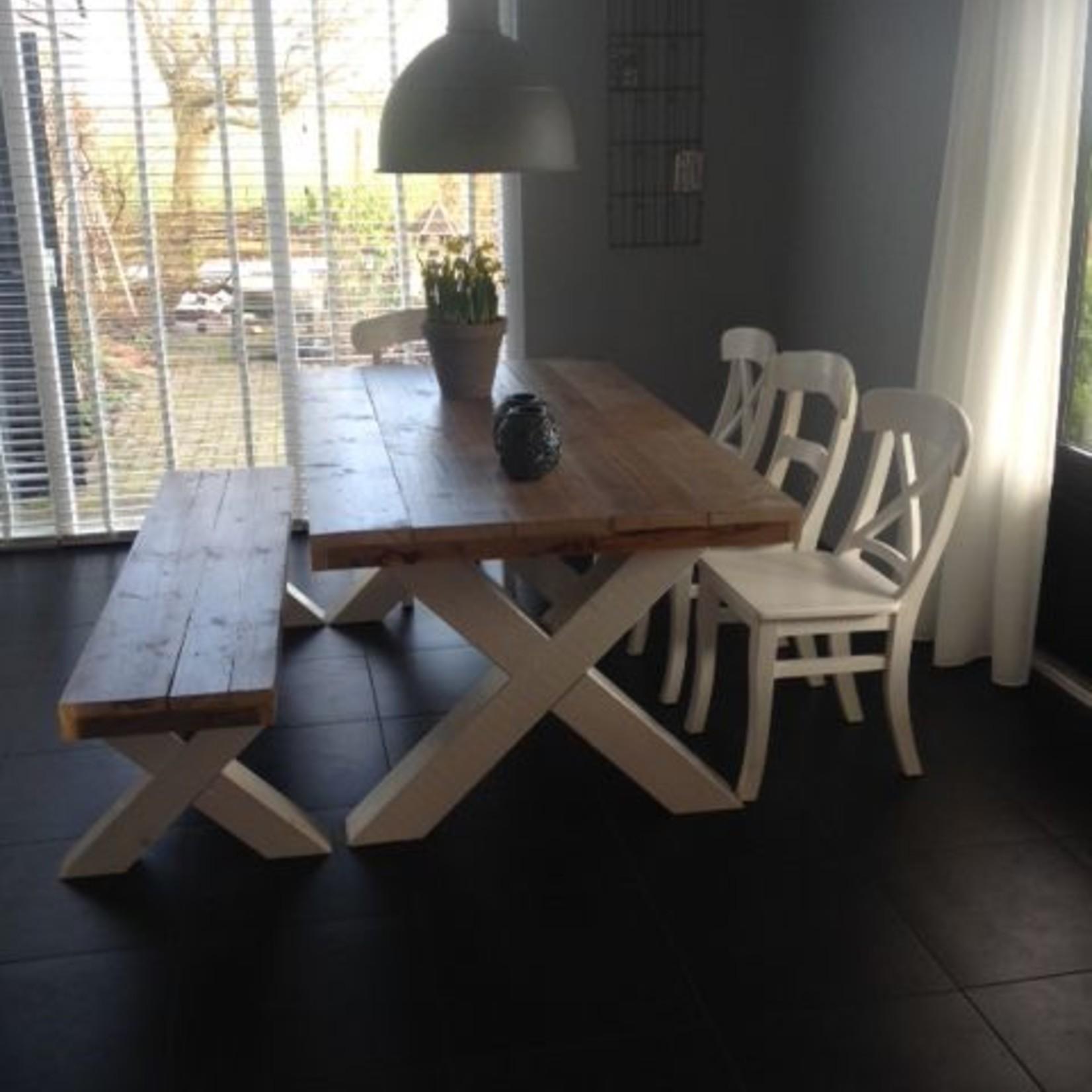 Zitting bankje 60x60/300 - Steigerhout