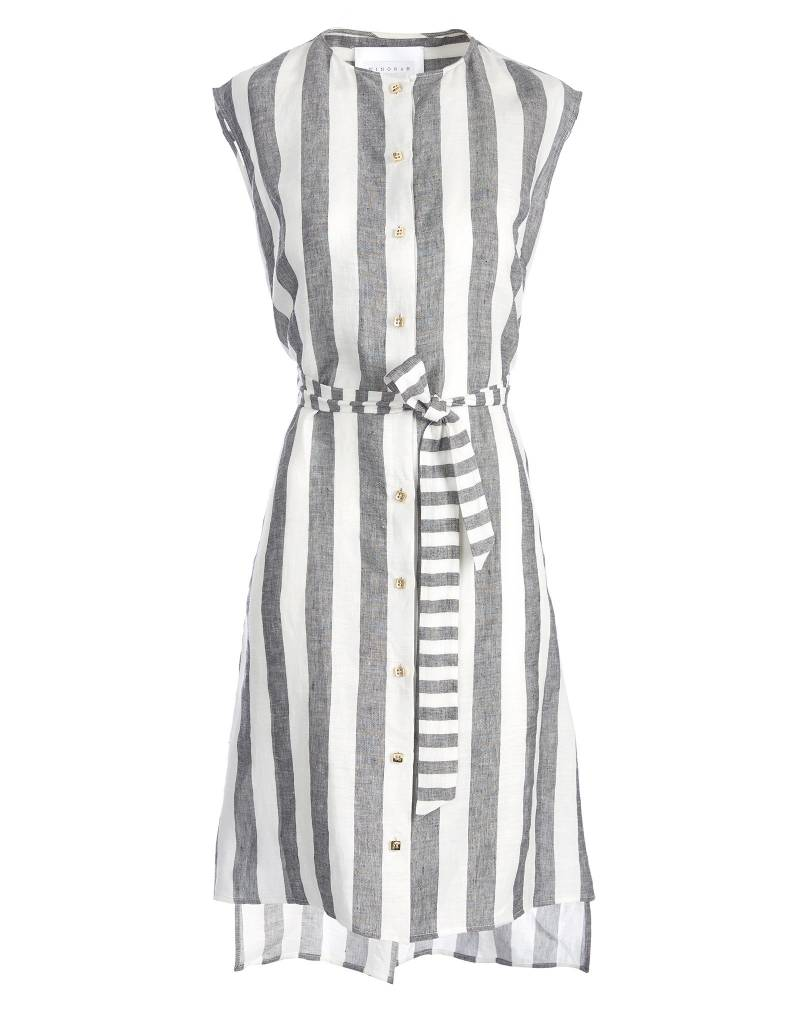 Striped Short Linen Dress