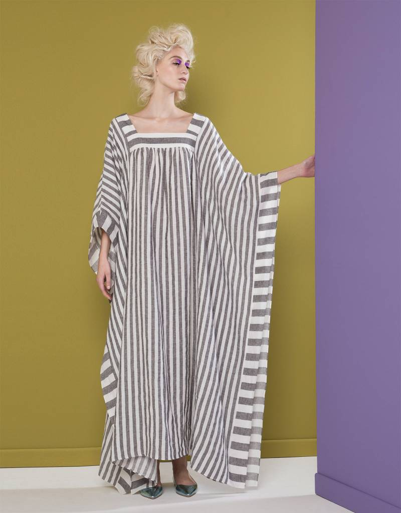 Striped Long Linen Dress
