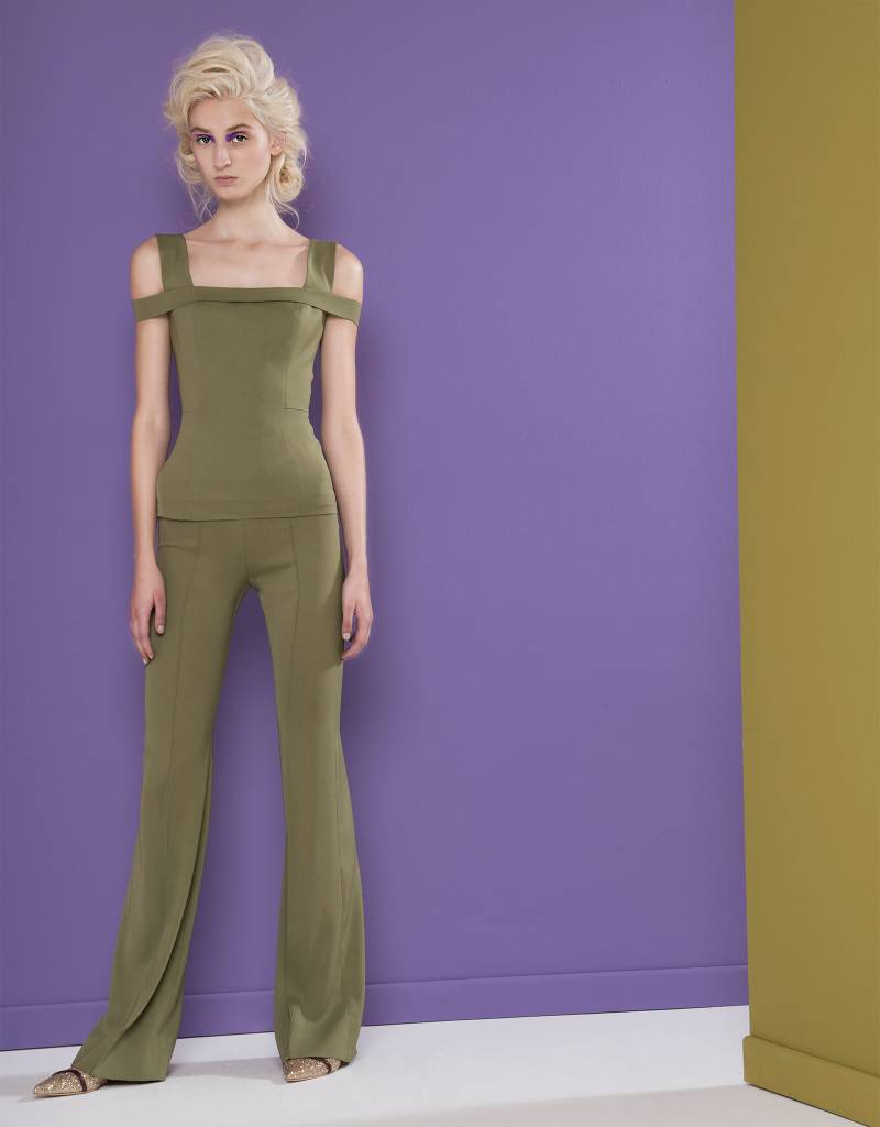 Tight Olive Green Trousers