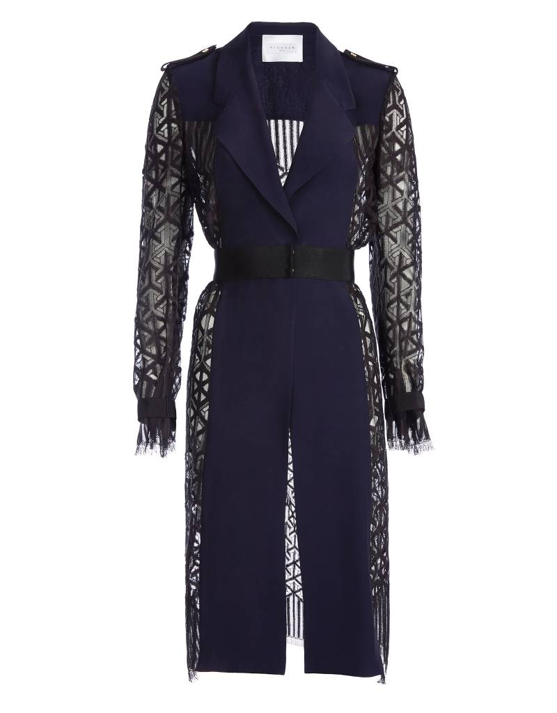 Navy Blue/Black Trenchcoat