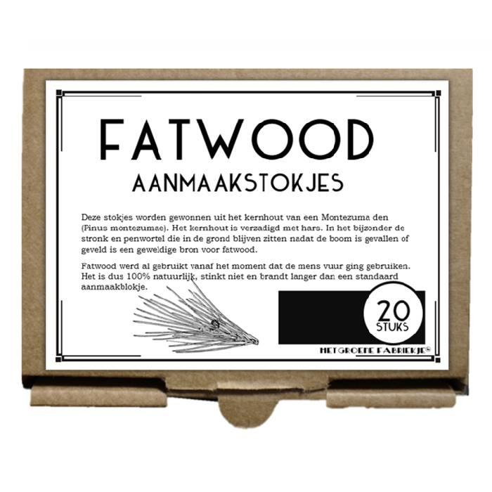 Ongeveer 20 aanmaakstokjes van Fatwood