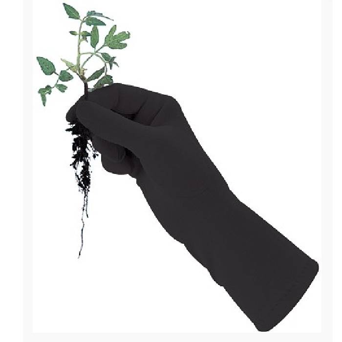 Foxgloves tuinhandschoen met grip: zwart