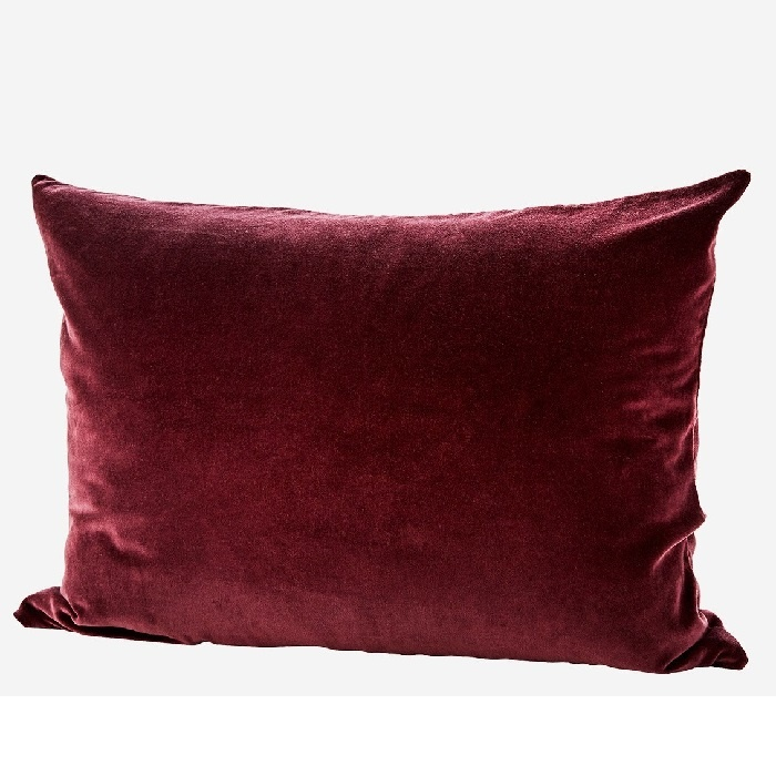 KUSSENHOES VELVET • BORDEAUX 70x50 ♥-40%