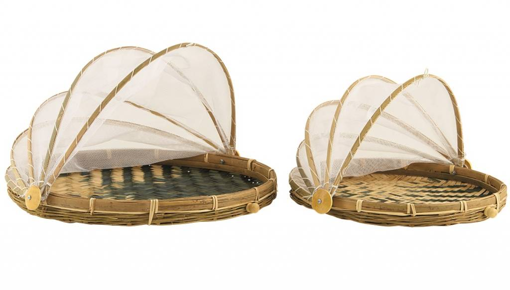 Bamboe tray met vliegenbescherming