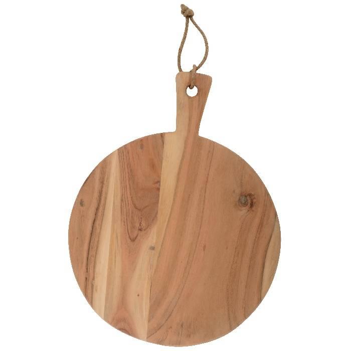 Ronde serveer- / presenteerplank van acasiahout: Ø 33 cm