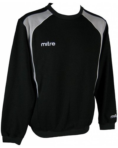 Mitre Mitre Apparel Baxter Fleece Sweat Top Men Black/Neutral/Grey