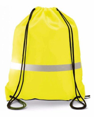 Fluoriserend rugzakje oranje of geel met koordjes Kl0109