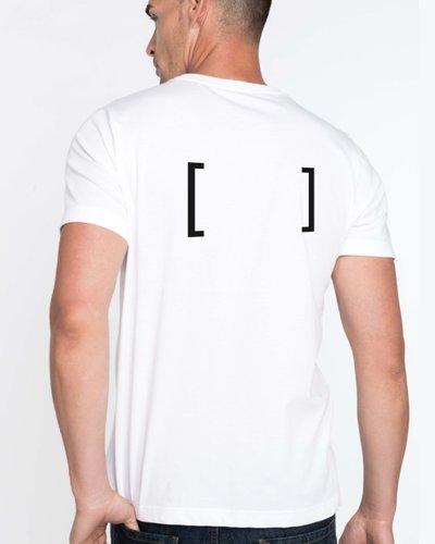 T-Shirt Katoen ronde hals heren inclusief opdruk rug
