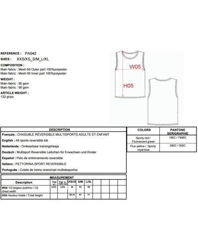 ProAct Omkeerbaar trainingshesje PA042 in 2 kleurcombinaties