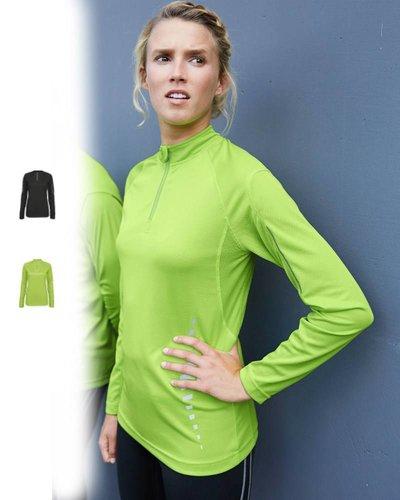 ProAct Dames sportshirt lange mouw. Zwart of lime