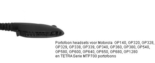 Portoon headsets met M4 connector voor Motorola GP300 serie en MTP700