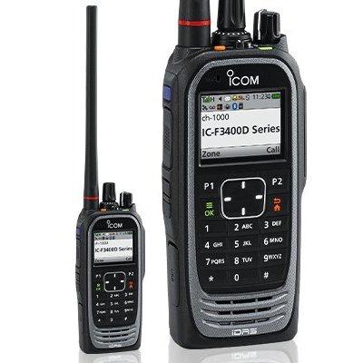 Icom IC-F3400DT Digitale VHF portofoon IDAS / NXDN met display en volledig toetsenbord