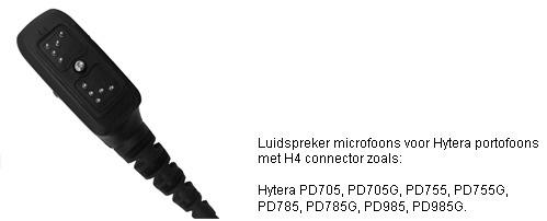 Luidspreker Microfoons met H4 connector